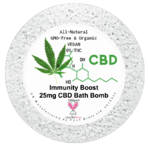 Immunity Boost CBD Hemp Oil Aromatherapy Bath Bomb - 25mg